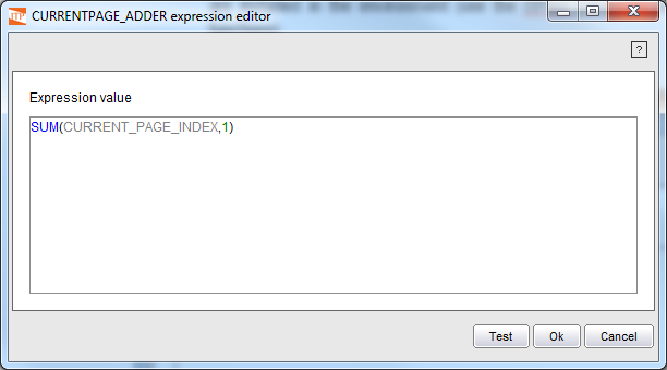 Using a function in the Expressions Editor