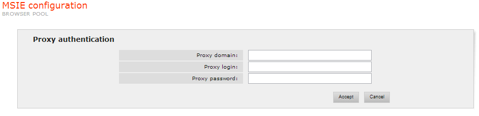Proxy with Authentication