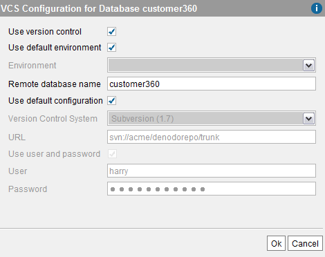 Enabling version control for a database