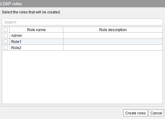 Import roles from LDAP wizard (2)