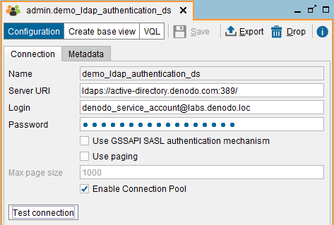 Creating an LDAP data source