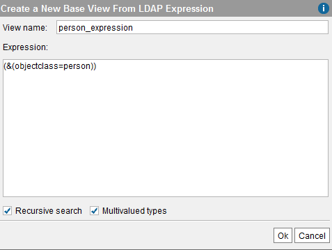 New LDAP base view from expression