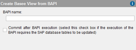Creating a BAPI base view