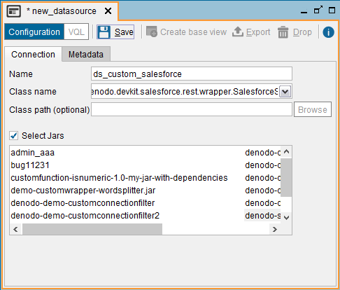 Creating a custom data source