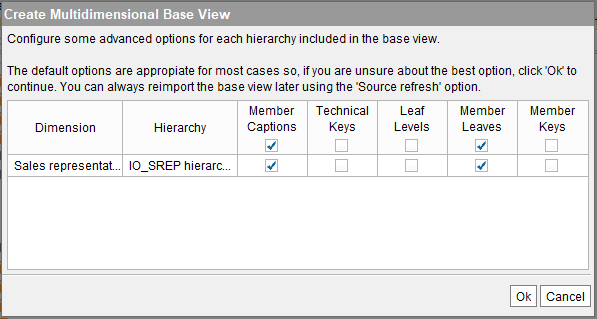 "Creating a SAP BW base view with ""Member leaves"" enabled (1)"