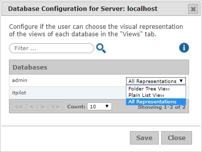 Database Configuration for Server
