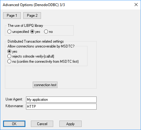 Denodo ODBC driver: advanced configuration (Page 3)