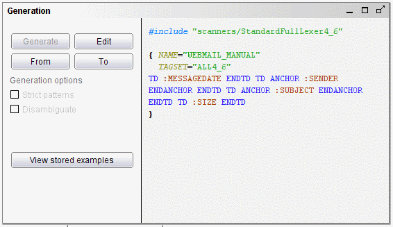 DEXTL specification to extract e-mail data
