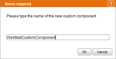 Assigning a name to the custom component