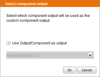 Selecting the output type of the custom component