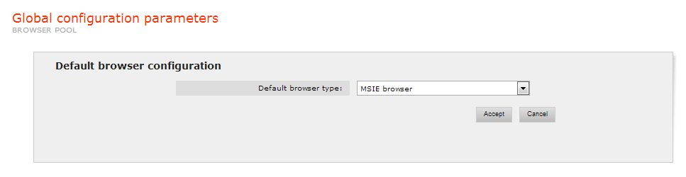 Browser type configuration