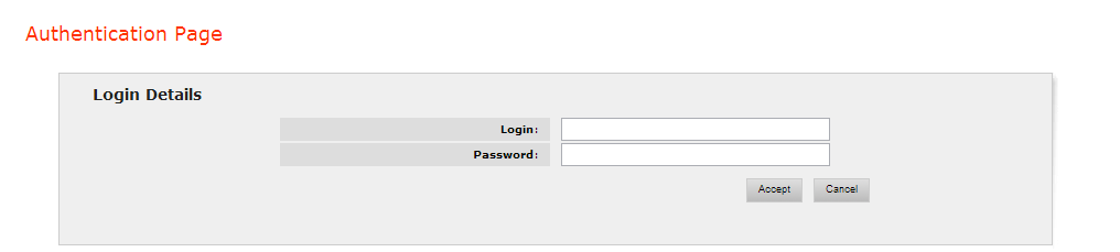 Denodo ITPilot login screen to administrate the web tool