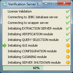 Verification Graphical Tool Loading Window