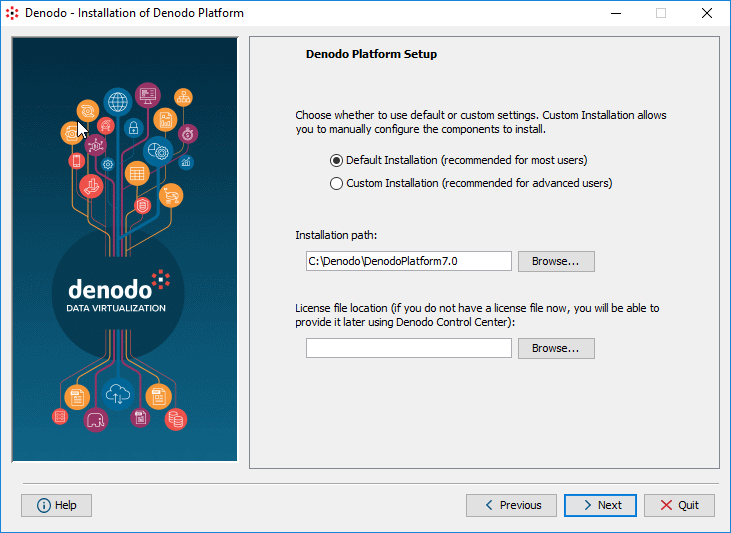 Step 2: selecting the installation method