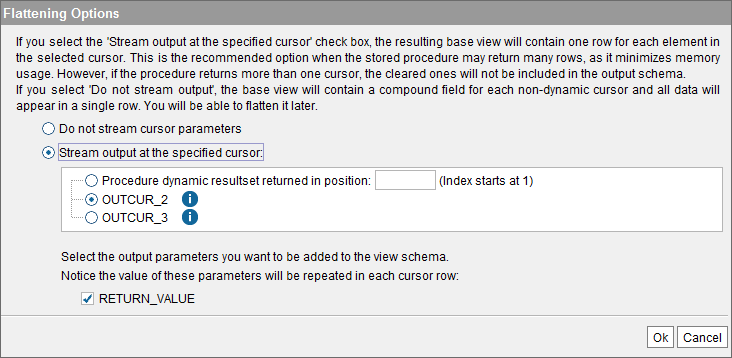 Importing a stored procedure that returns cursors, from IBM DB2