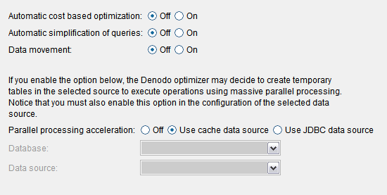 Queries optimization dialog