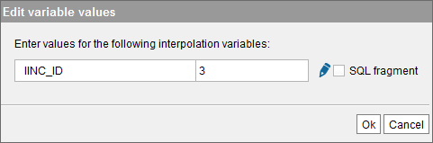 Editing the value of the interpolation variables