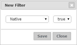 Dialog of a TRUE-FALSE filter