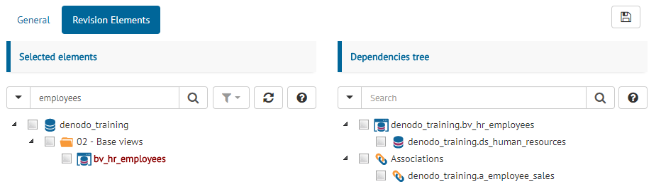 View dependencies