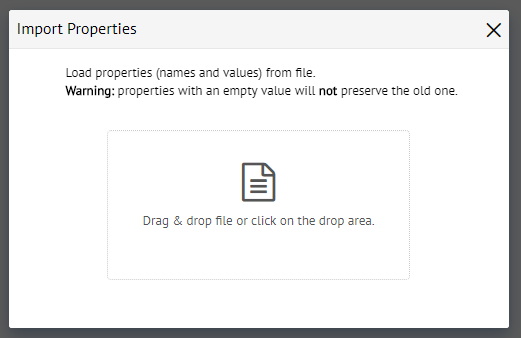Dialog to drag & drop a file with Virtual DataPort properties