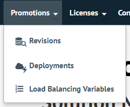 Open the table of load balancing variables