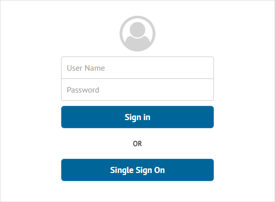 Authentication dialog with Single Sign-On in the Diagnostic & Monitoring Tool