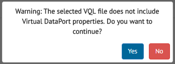 Confirm creation of a revision from VQL without VDP properties