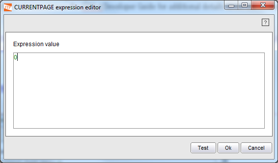 Creation of a constant value in the Expressions Editor