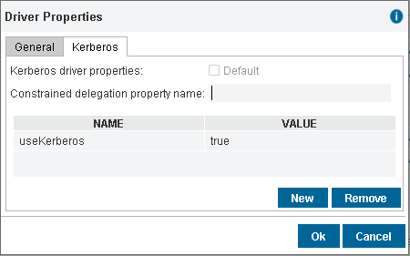 Configuring the Kerberos driver properties to connect to Oracle