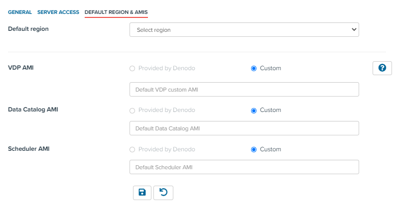 Automated Mode (AWS) - Default region & AMIs