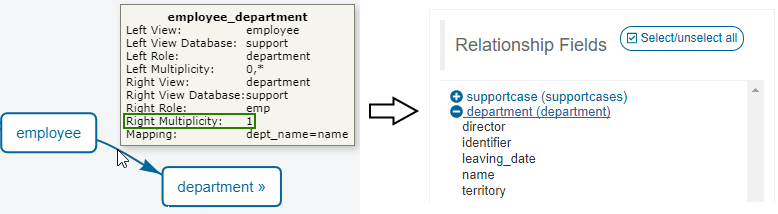 Query Definition - Relationship Fields